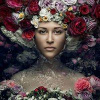 Glasschilderij Flower